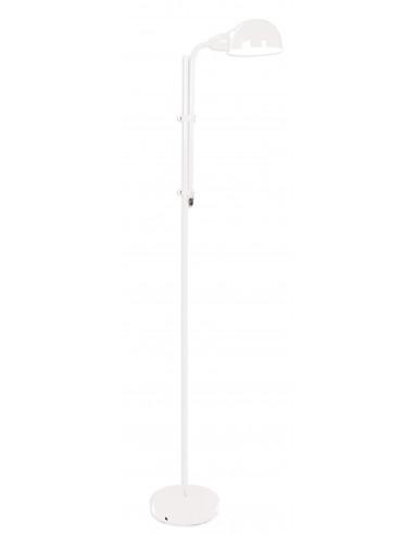 LAMPA podłogowa Retro NAVE 2043923 biała metal
