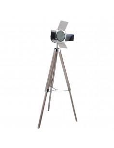 LAMPA podłogowa Retro NAVE 2055342 Drewno